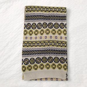 Knit nordic/fair isle patterned scarf